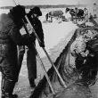 © Uģis Niedre. Fishermen from Upesciems village fishing in the Lake Jugla, 1983