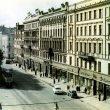 Dominiks Gedzjuns. Padomju (now Aspazijas) Boulevard in Riga, late 1950-ies