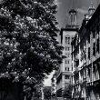 Dominiks Gedzjuns. Corner of Veidenbauma (now Baznicas) and Dzirnavu Street, late 1950-ies