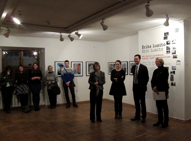 The opening of the exhibition in Riga. Photo by Arnis Balcus