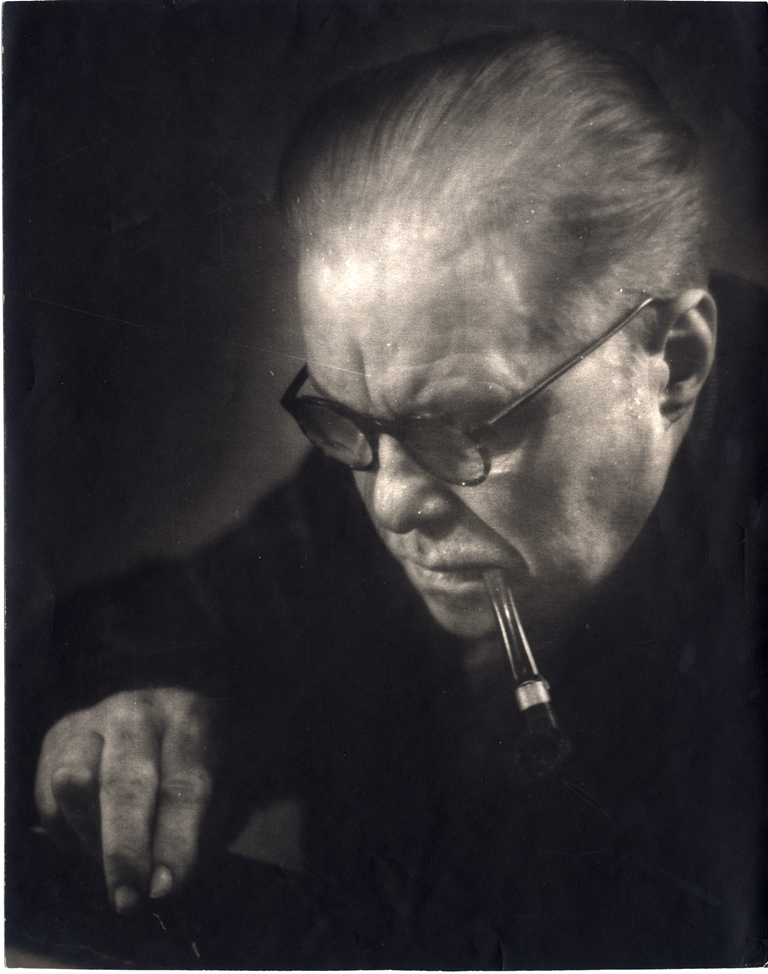 Egons Spuris. Portrait of the artist Alexander Junkers. Early 1960-ies. Collection of the Latvian National Museum of Art