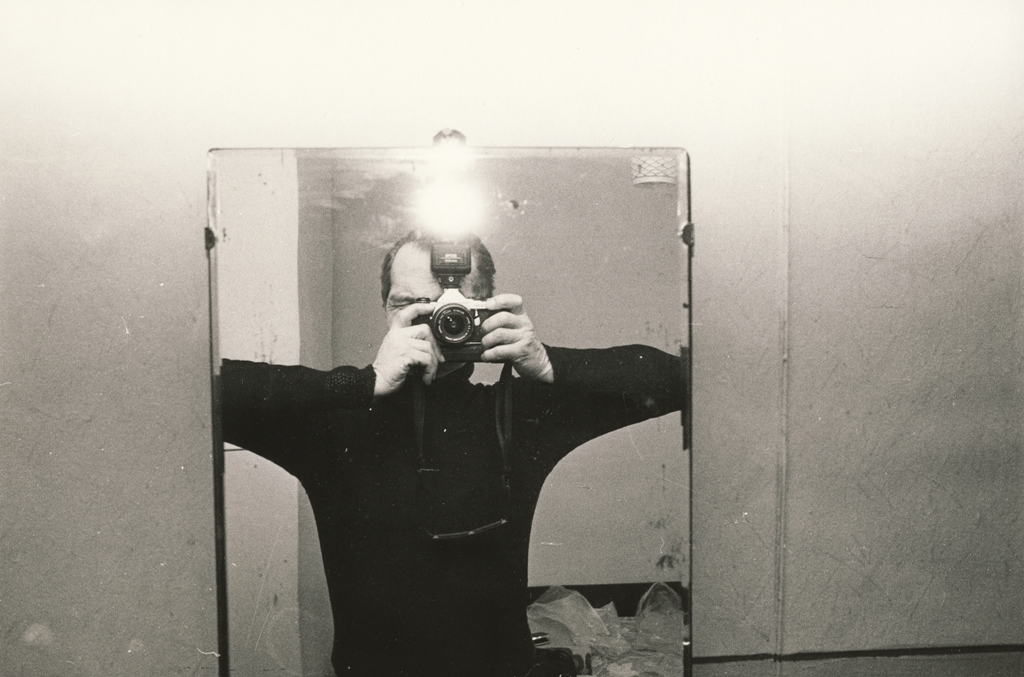 "Egons Spuris. From the series ""Jurmala"". Self-portrait in the mirror. Circa 1987. Collection of the family of the artist"