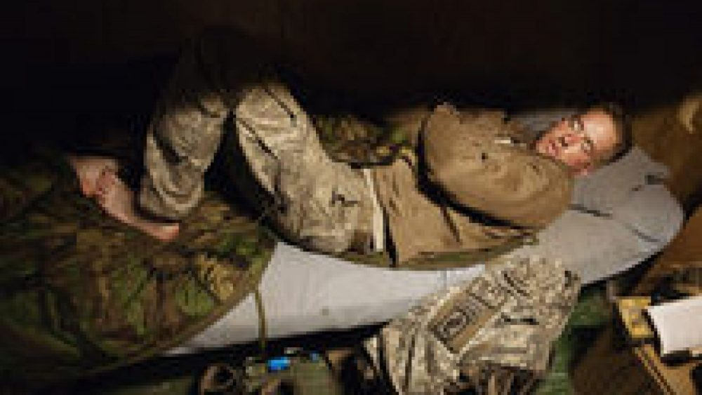 "Tim Hetherington. From the series ""Sleeping Soldiers"""