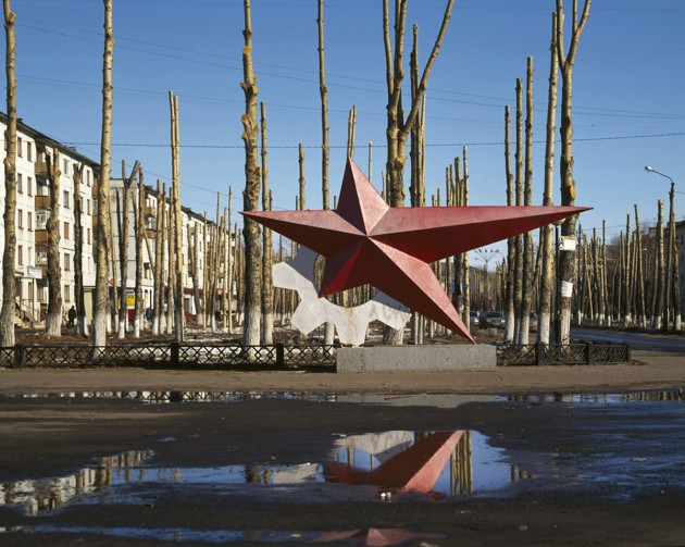 "Maria Gruzdeva. Red Star Monument, Severodvinsk, Arkhangelsk region. From the series ""The Borders of Russia"""