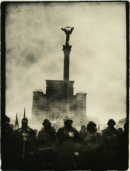 "Sergiy Lebedinskyy and Vlad Krasnoschok. From the series ""Euromaidan"""