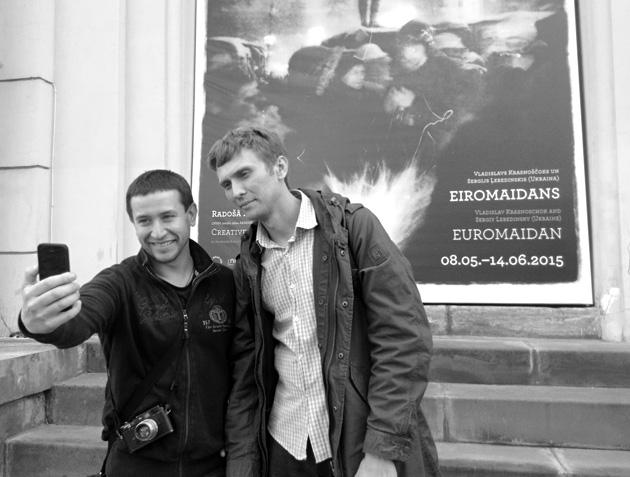 Vlad and Sergiy in Riga. Photo by Arnis Balčus