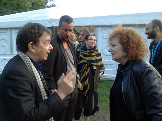 Christian Caujolle, JH Engström and Nan Goldin in Landskrona Photo Festival in 2014. Photo by Arnis Balcus