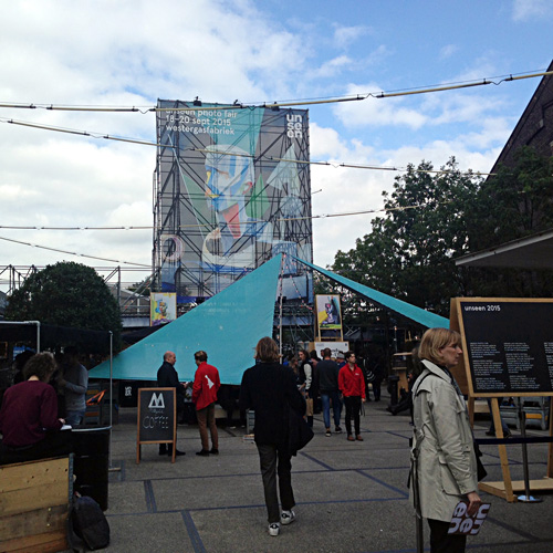 Entrance of the Unseen Amsterdam Art Fair 2015. Photo by Inga Erdmane