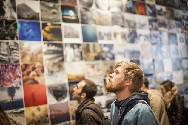 A view from an exhibition at Krakow Photomonth in 2014