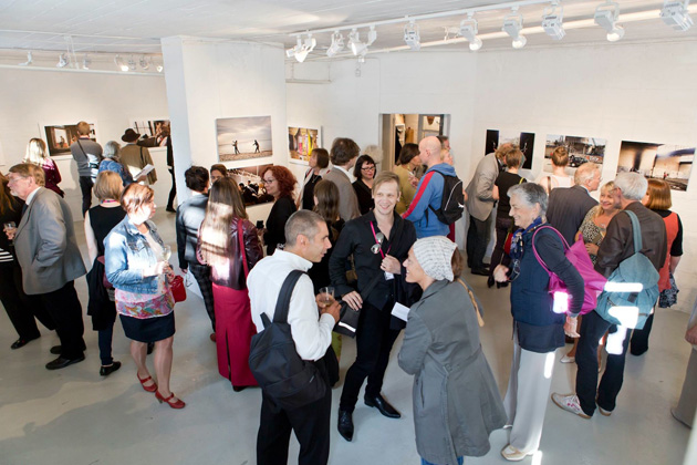 A view from an exhibition at Backlight festival in 2014